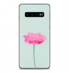 Coque en silicone Samsung Galaxy S10 Plus - Fleur Rose