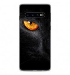 Coque en silicone Samsung Galaxy S10 Plus - Oeil de Panterre