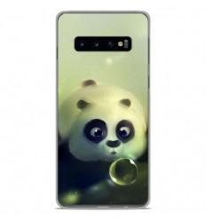 Coque en silicone Samsung Galaxy S10 Plus - Panda Bubble