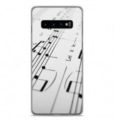 Coque en silicone Samsung Galaxy S10 Plus - Partition de musique
