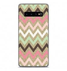 Coque en silicone Samsung Galaxy S10 Plus - Texture rose