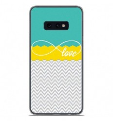 Coque en silicone Samsung Galaxy S10e - Love Turquoise