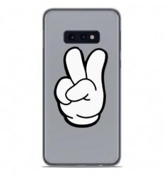 Coque en silicone Samsung Galaxy S10e - Swag Hand Blanc