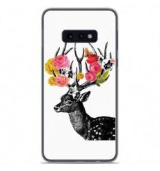 Coque en silicone Samsung Galaxy S10e - Cerf fleurs