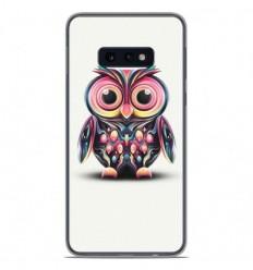 Coque en silicone Samsung Galaxy S10e - Hiboux coloré