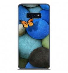 Coque en silicone Samsung Galaxy S10e - Papillon galet bleu
