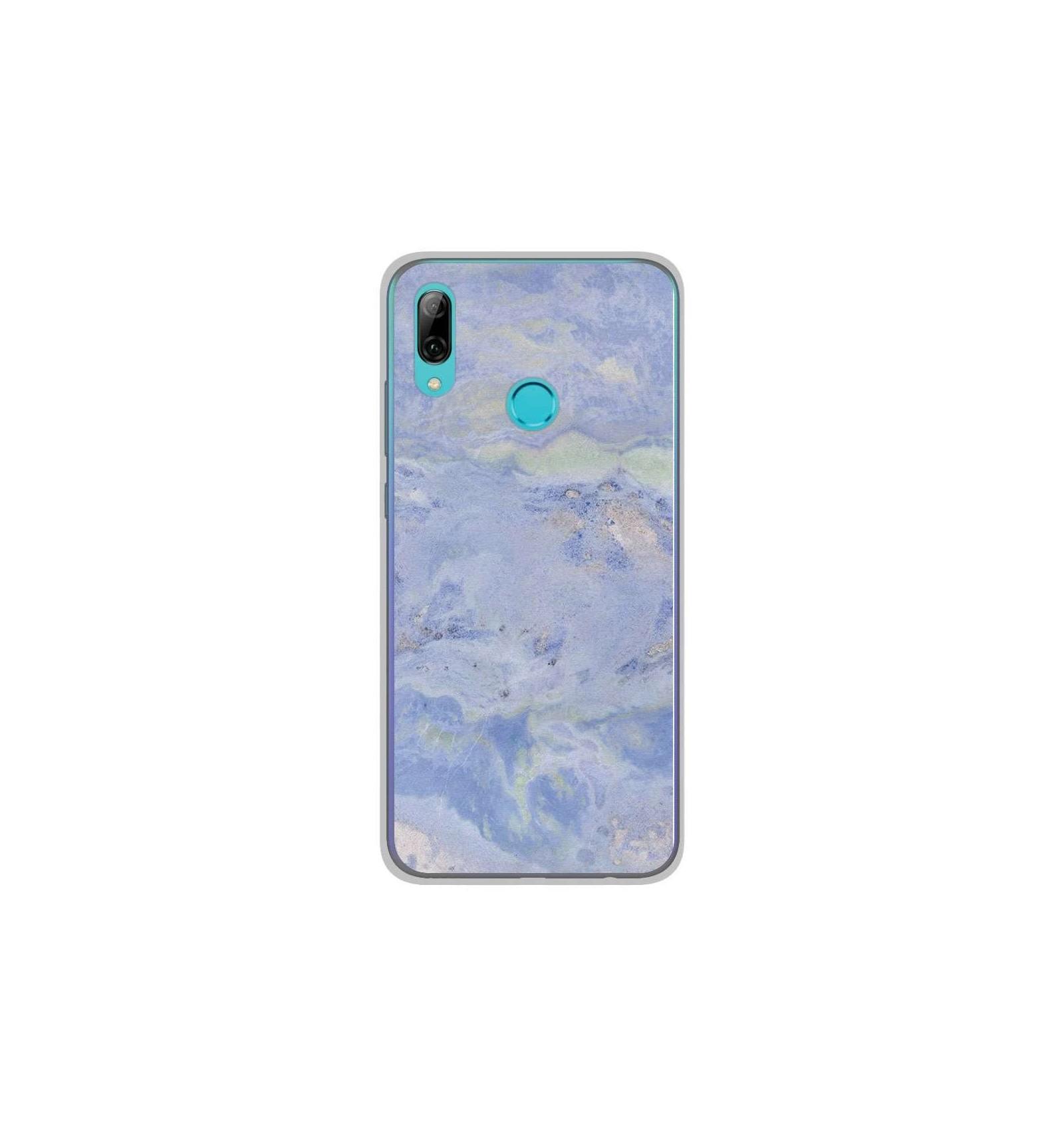 Coque en silicone Huawei P Smart 2019 - Marbre Bleu