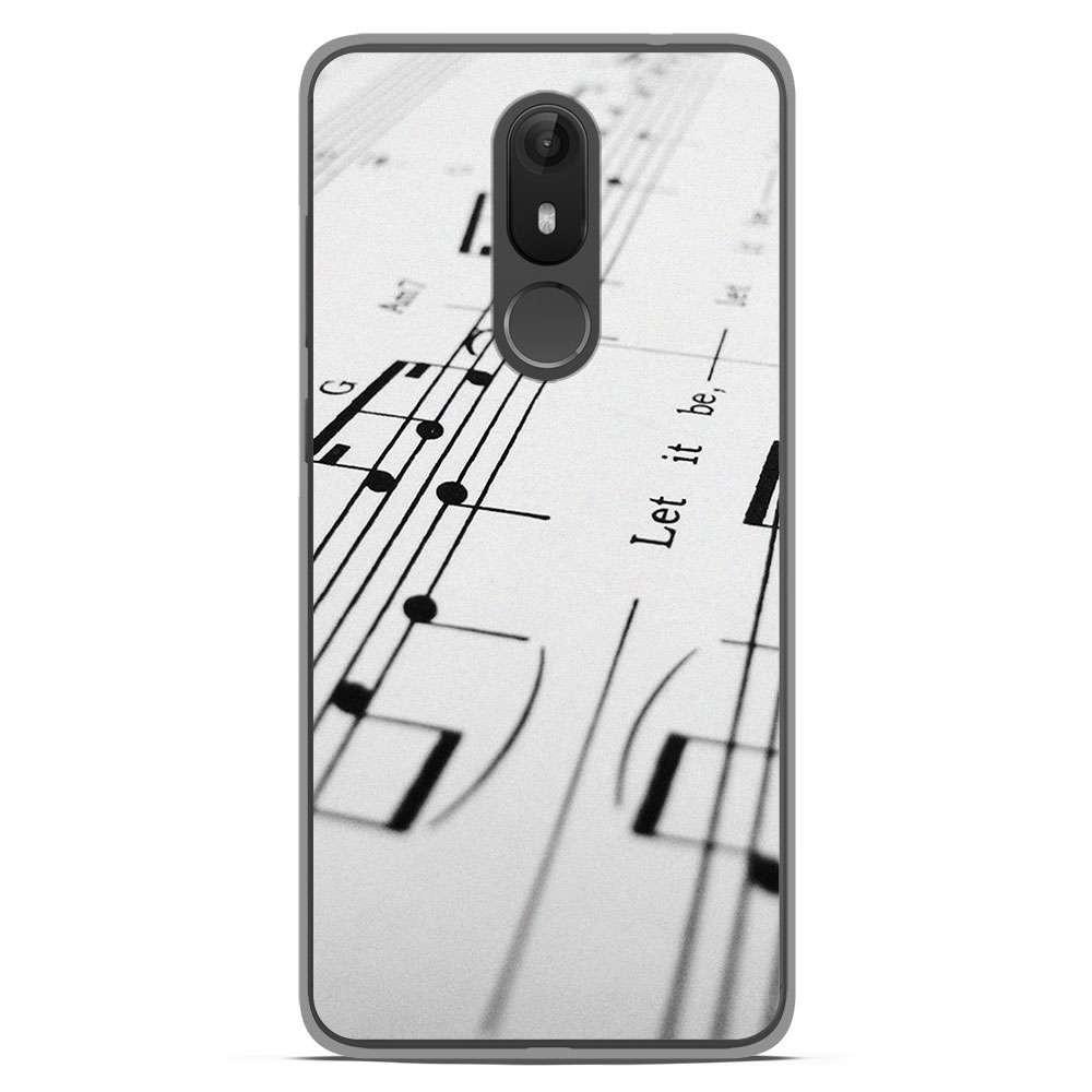Coque en silicone Wiko View Lite - Partition de musique