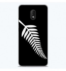 Coque en silicone Wiko Jerry 3 - Drapeau All-black