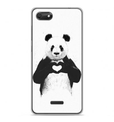 Coque en silicone Wiko Harry 2 - BS Love Panda
