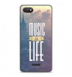 Coque en silicone Wiko Harry 2 - Music is life