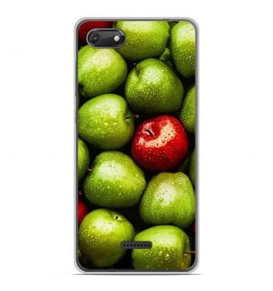 Coque en silicone Wiko Harry 2 - Pommes