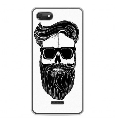 Coque en silicone Wiko Harry 2 - Skull Hipster