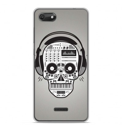 Coque en silicone Wiko Harry 2 - Skull Music