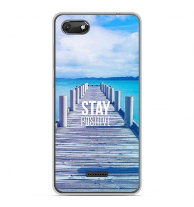 Coque en silicone Wiko Harry 2 - Stay positive