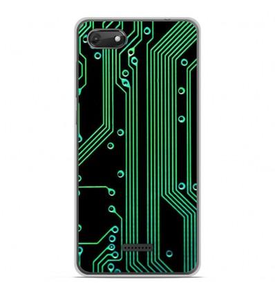 Coque en silicone Wiko Harry 2 - Texture circuit geek