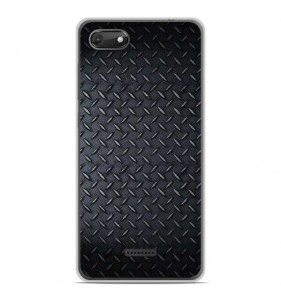 Coque en silicone Wiko Harry 2 - Texture metal