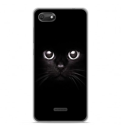 Coque en silicone Wiko Harry 2 - Yeux de chat