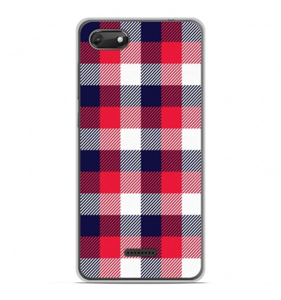 Coque en silicone Wiko Harry 2 - Tartan Tricolor