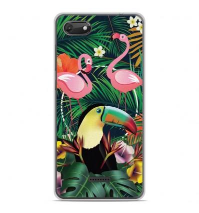 Coque en silicone Wiko Harry 2 - Tropical Toucan