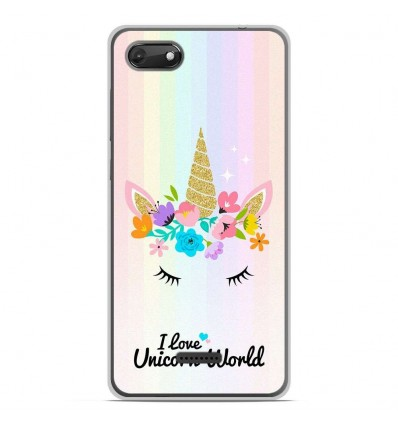 Coque en silicone Wiko Harry 2 - Unicorn World
