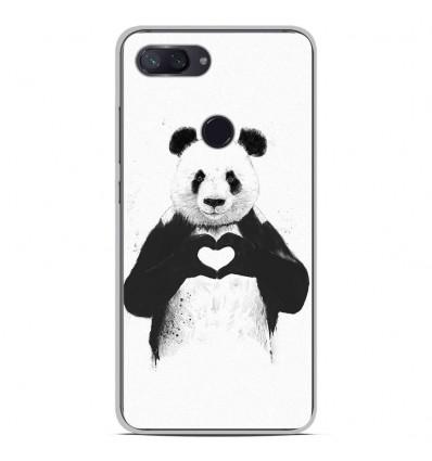 Coque en silicone Xiaomi Mi 8 Lite - BS Love Panda