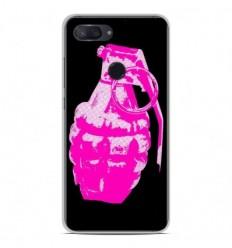 Coque en silicone Xiaomi Mi 8 Lite - Grenade rose