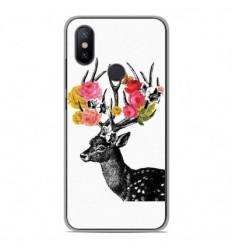 Coque en silicone Xiaomi Mi A2 Lite - Cerf fleurs