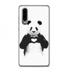 Coque en silicone Huawei P30 - BS Love Panda