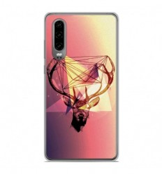 Coque en silicone Huawei P30 - Cerf Hipster