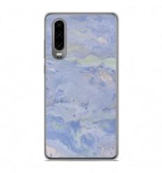 Coque en silicone Huawei P30 - Marbre Bleu