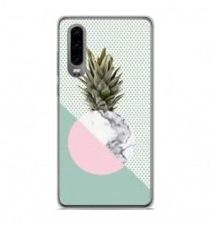 Coque en silicone Huawei P30 - Ananas marbre