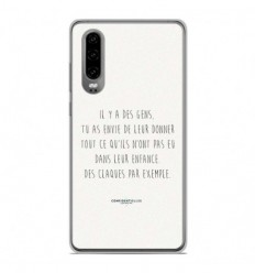 Coque en silicone Huawei P30 - Citation 01