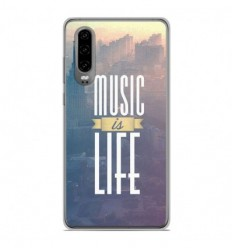 Coque en silicone Huawei P30 - Music is life