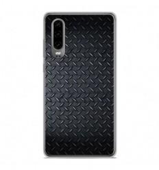 Coque en silicone Huawei P30 - Texture metal