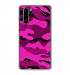 Coque en silicone Huawei P30 Pro - Camouflage rose