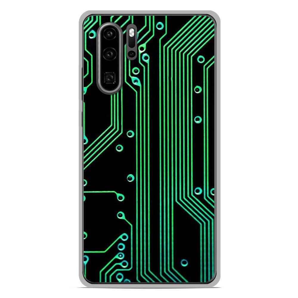 Coque en silicone Huawei P30 Pro - Texture circuit geek