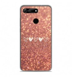 Coque en silicone Huawei Honor View 20 - Paillettes coeur