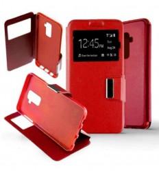 Etui Folio Samsung Galaxy A6 Plus 2018 - Rouge