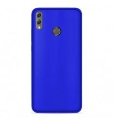 Coque Huawei Honor 8X Silicone Gel givré - Bleu Translucide
