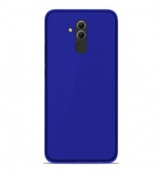 Coque Huawei Mate 20 lite Silicone Gel givré - Bleu Translucide