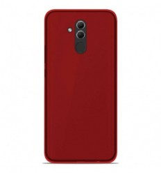 Coque Huawei Mate 20 lite Silicone Gel givré - Rouge Translucide