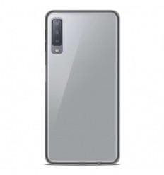 Coque Samsung Galaxy A7 2018 Silicone Gel givré - Blanc Translucide