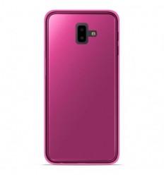 Coque Samsung Galaxy J6 Plus 2018 Silicone Gel givré - Rose Translucide