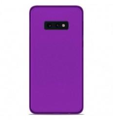 Coque Samsung Galaxy S10e Silicone Gel givré - Violet Translucide
