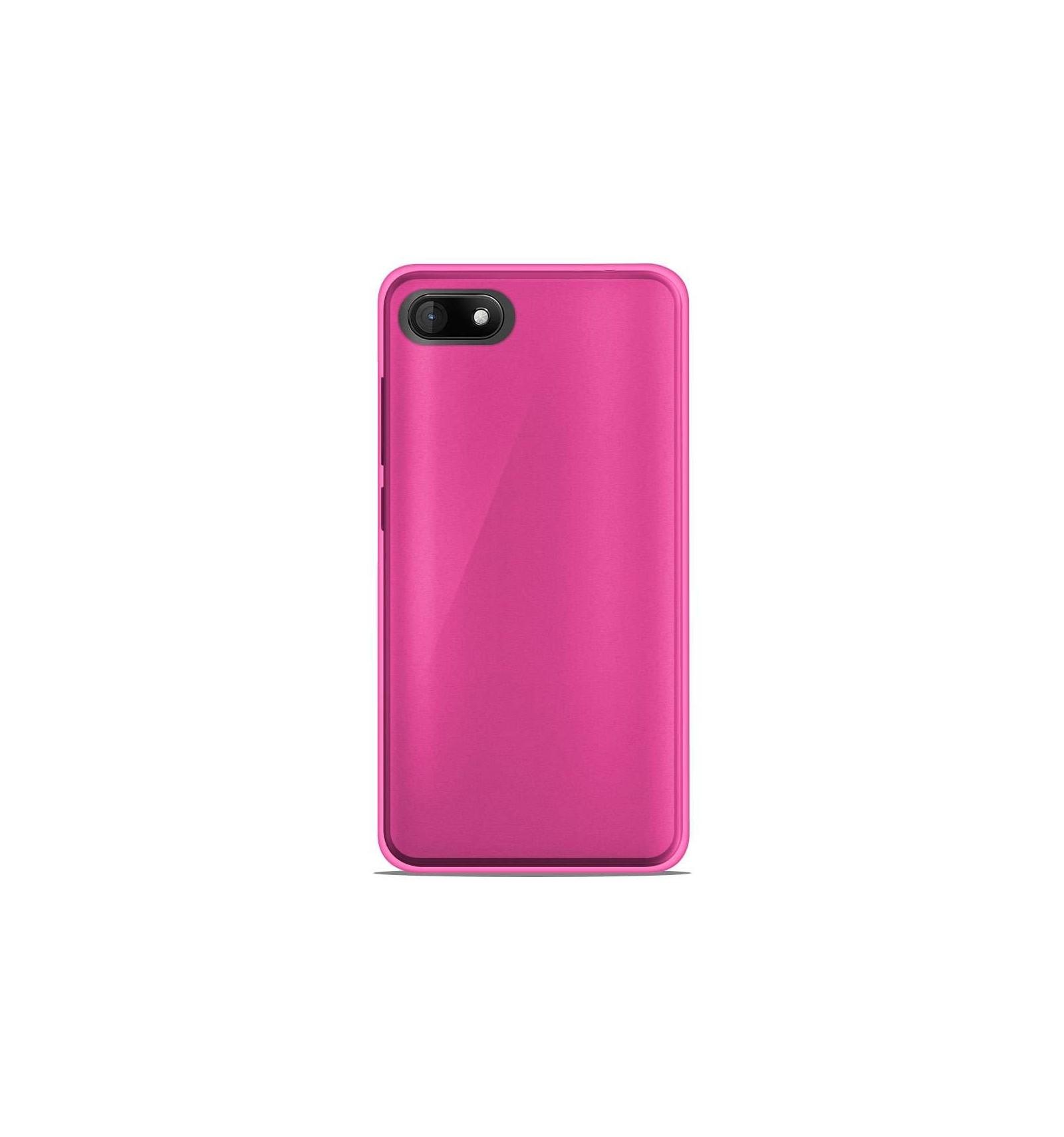 Coque Wiko Sunny 3 Silicone Gel givré - Rose Translucide