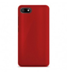Coque Wiko Sunny 3 Silicone Gel givré - Rouge Translucide