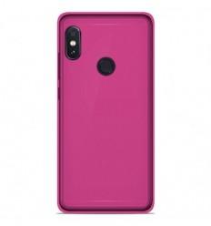 Coque Xiaomi RedMi Note 5 / Note 5 Pro Silicone Gel givré - Rose Translucide