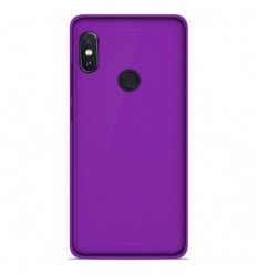 Coque Xiaomi RedMi Note 5 / Note 5 Pro Silicone Gel givré - Violet Translucide