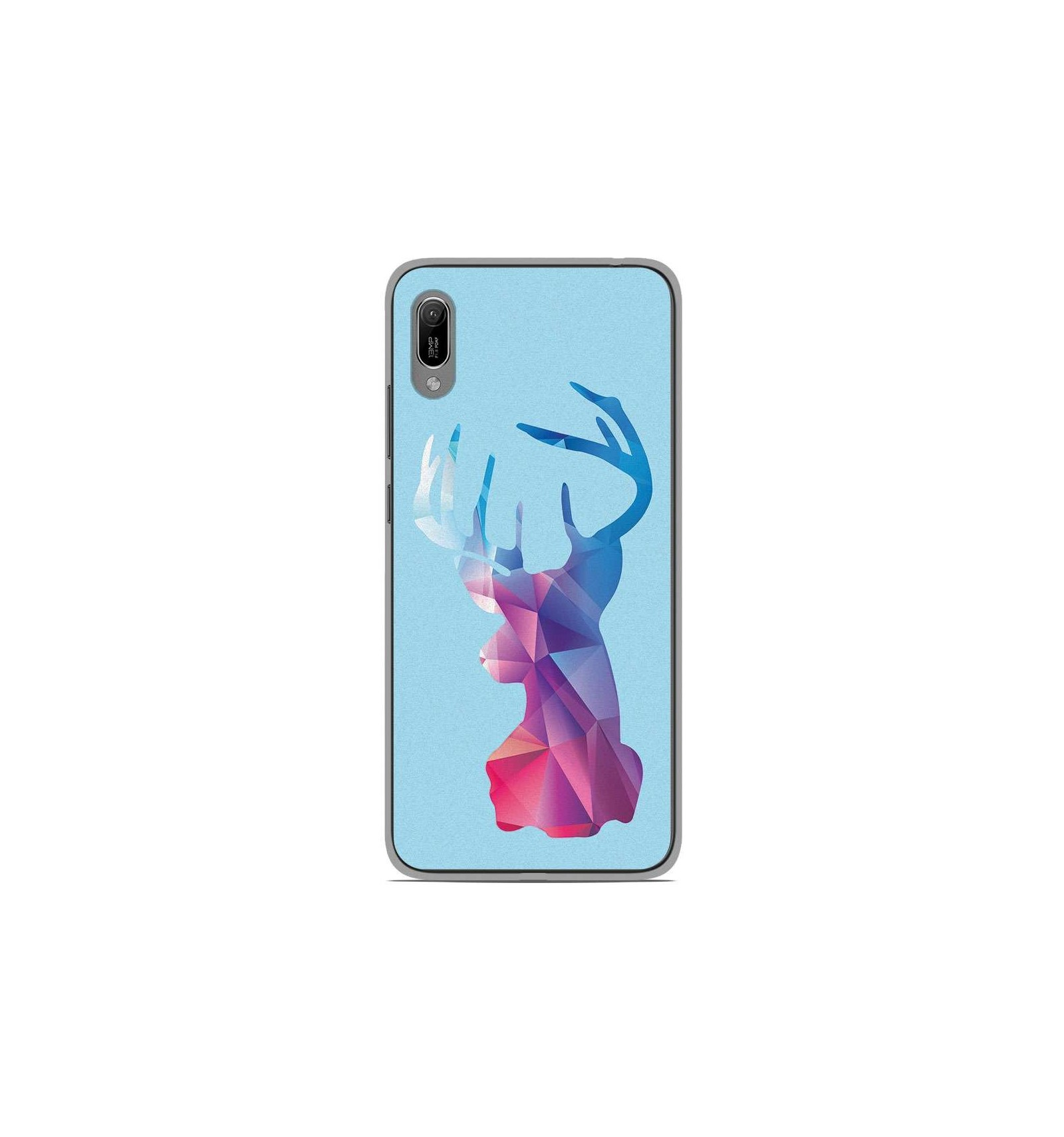 Coque en silicone Huawei Y6 2019 - Cerf Hipster Bleu